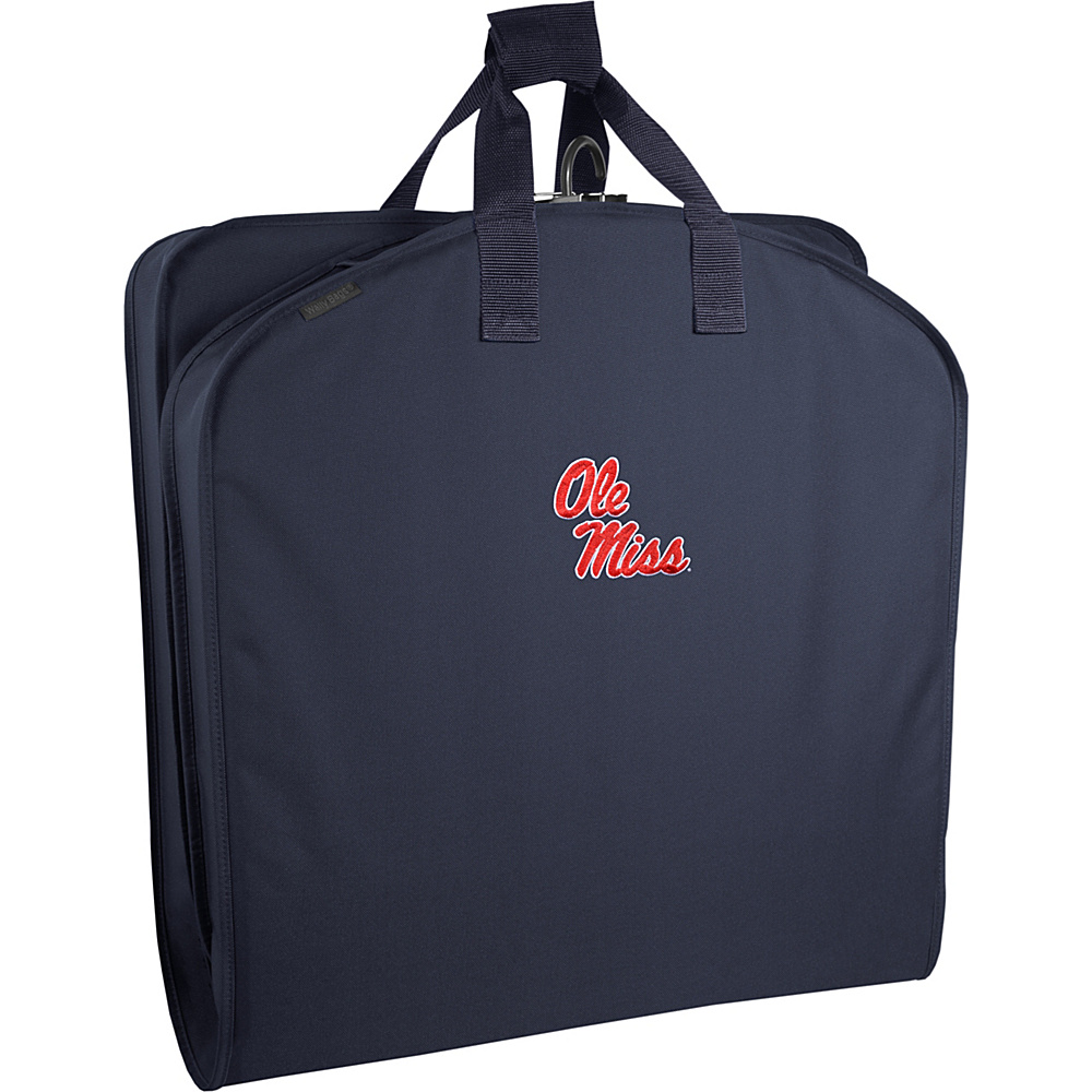 "Wally Bags Ole Miss Rebels 40"" Suit Length Garment Bag with Handles Navy - Wally Bags Garment Bags"
