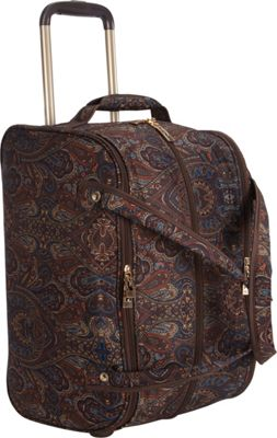 London Fog Soho 19 inch International Wheeled Club Bag Brown Paisley - London Fog Softside Carry-On