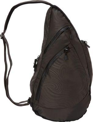Image of AmeriBag Great Outdoors Healthy Back Bag Medium Caviar - AmeriBag Fabric Handbags