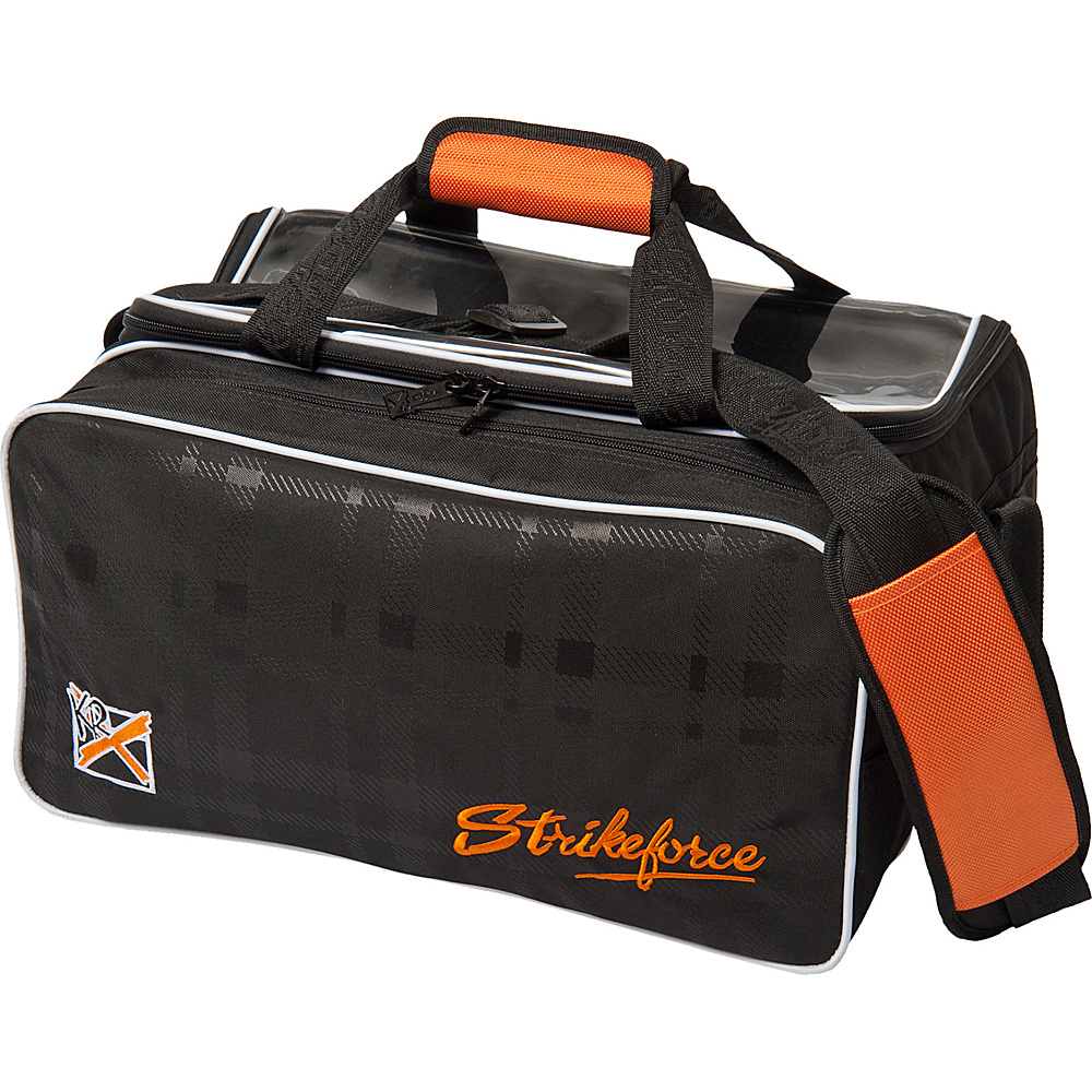 KR Strikeforce Bowling Krush Orange Double Tote With Shoe Pocket Black/Orange - KR Strikeforce Bowling Bowling Bags