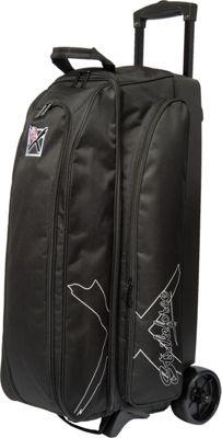 KR Strikeforce Bowling Hybrid X Triple Roller Bag Black - KR Strikeforce Bowling Sport Bags