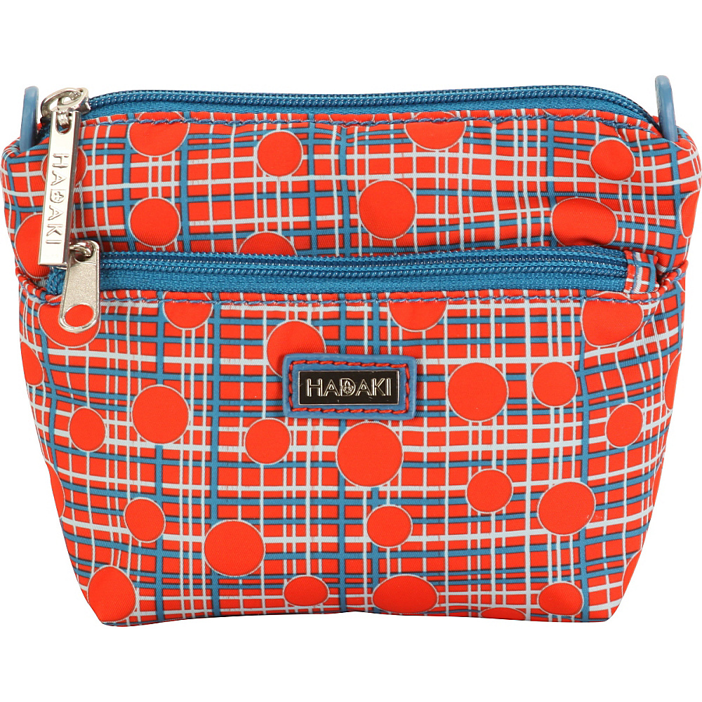 Hadaki Double Zip Pouch Fiery Red Plaid - Hadaki Travel Organizers - Travel Accessories, Travel Organizers