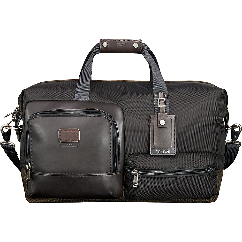Tumi Alpha Bravo Grissom Travel Satchel Hickory Tumi Luggage Totes and Satchels