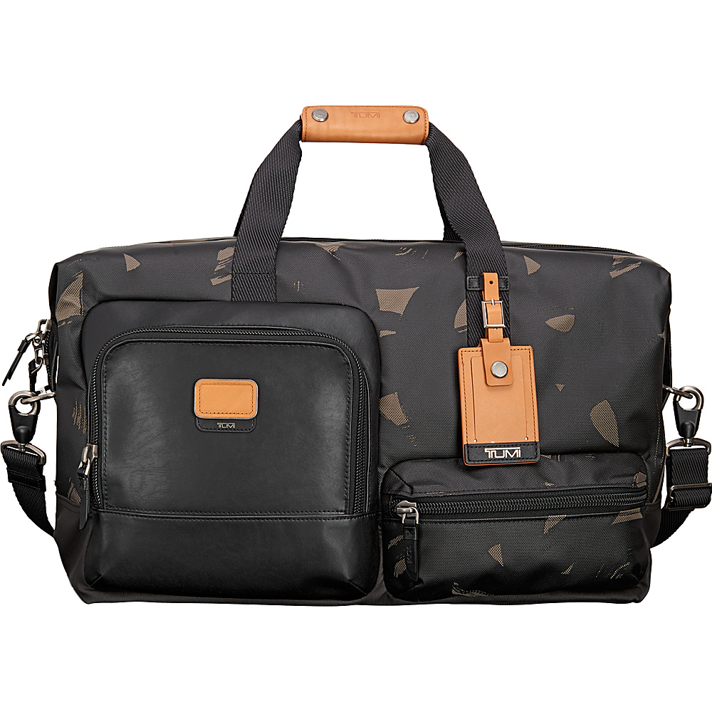 Tumi Alpha Bravo Grissom Travel Satchel Smoke Character Print - Tumi Luggage Totes and Satchels