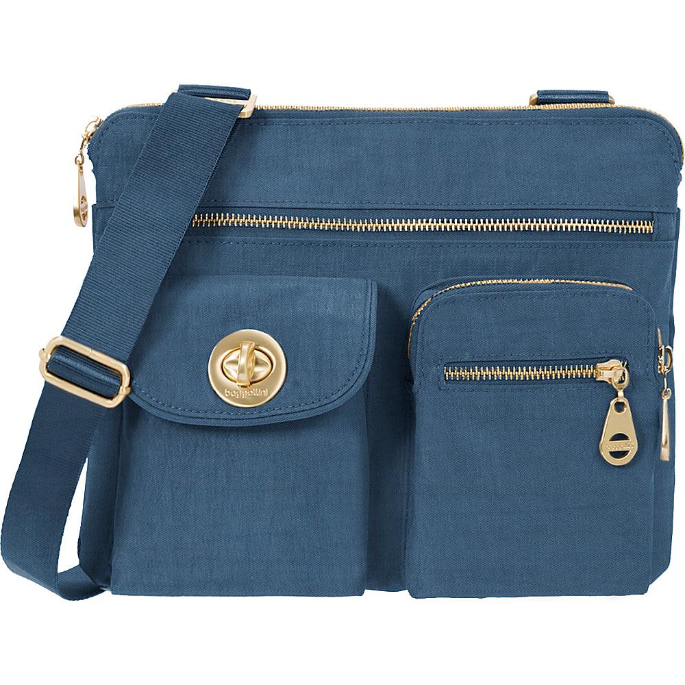 baggallini Gold Sydney Crossbody Slate Blue - baggallini Fabric Handbags - Handbags, Fabric Handbags