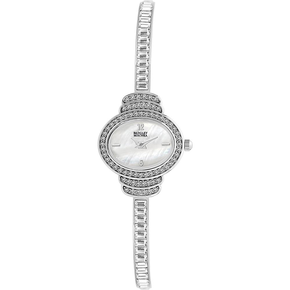 Badgley Mischka Watches Oval Crystal Bangle Watch Silver - Badgley Mischka Watches Watches