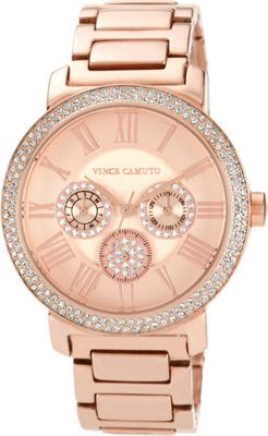 Vince Camuto Watches Crystal Accented Multi-Function Watch Gold/Gold/Gold - Vince Camuto Watches Watches