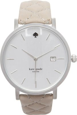 kate spade watches Metro Grand Quilted Strap Watch Grey - kate spade watches Watches