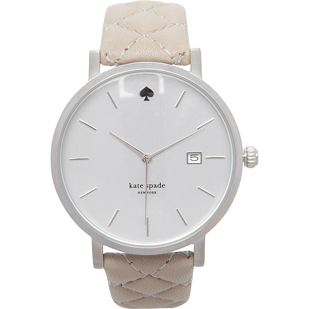 kate spade watches Metro Grand Quilted Strap Watch Grey kate spade watches Watches