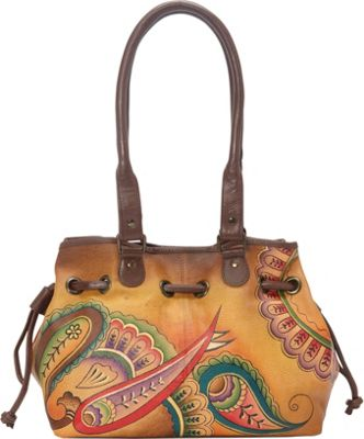 ANNA by Anuschka Draw-String Tote Royal Paisley - ANNA by Anuschka Leather Handbags