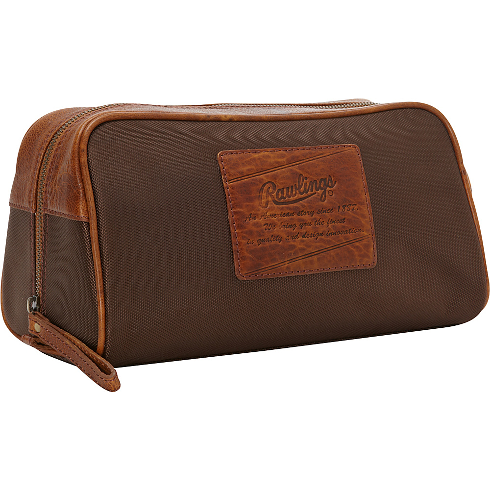 Rawlings Rugged Nylon Travel Kit Cognac Rawlings Toiletry Kits