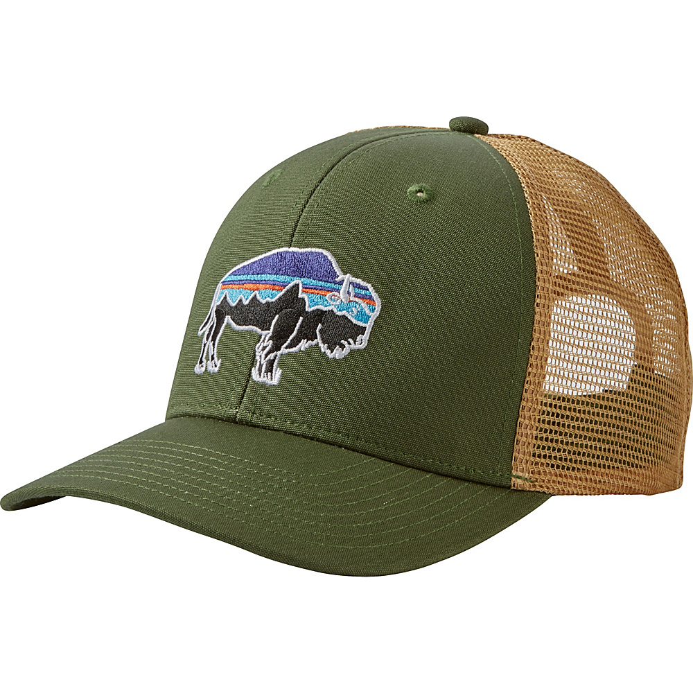 Patagonia Fitz Roy Bison Trucker Hat One Size - Buffalo Green - Patagonia Hats/Gloves/Scarves - Fashion Accessories, Hats/Gloves/Scarves