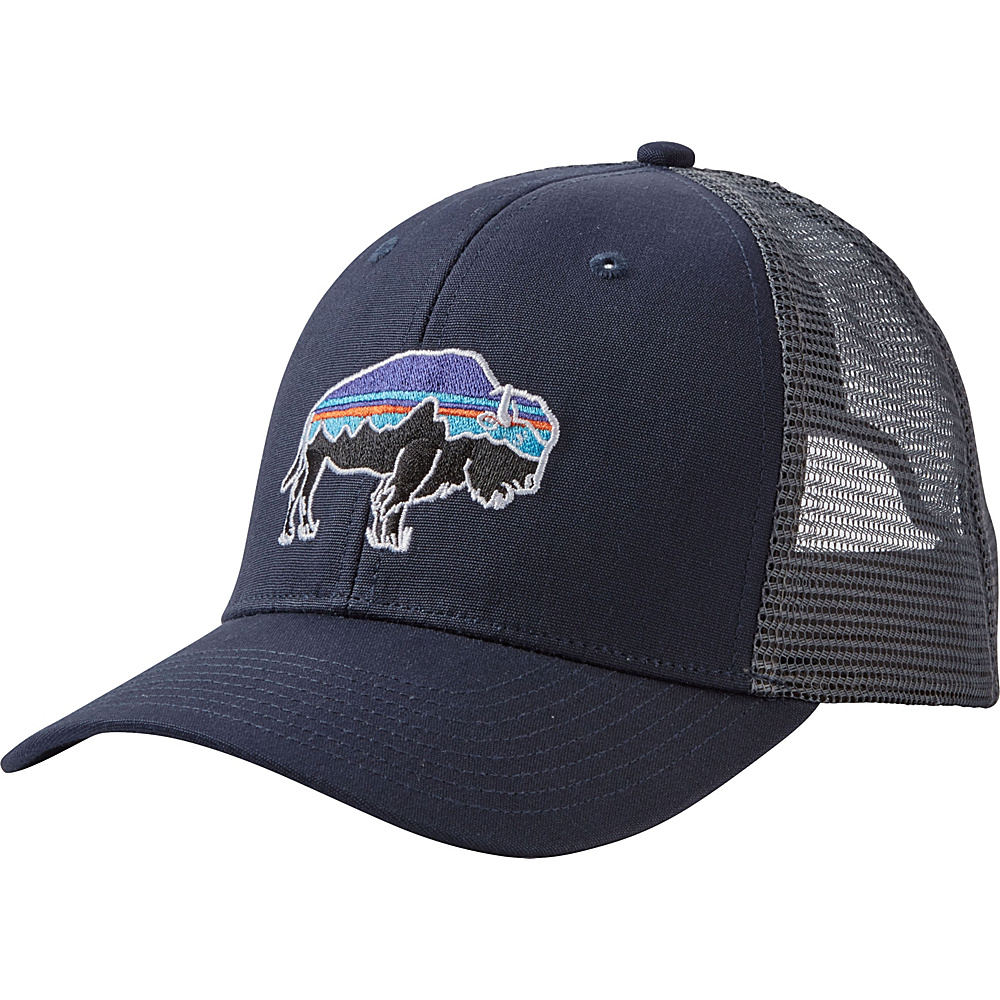 Patagonia Fitz Roy Bison Trucker Hat One Size - Navy Blue - Patagonia Hats/Gloves/Scarves - Fashion Accessories, Hats/Gloves/Scarves