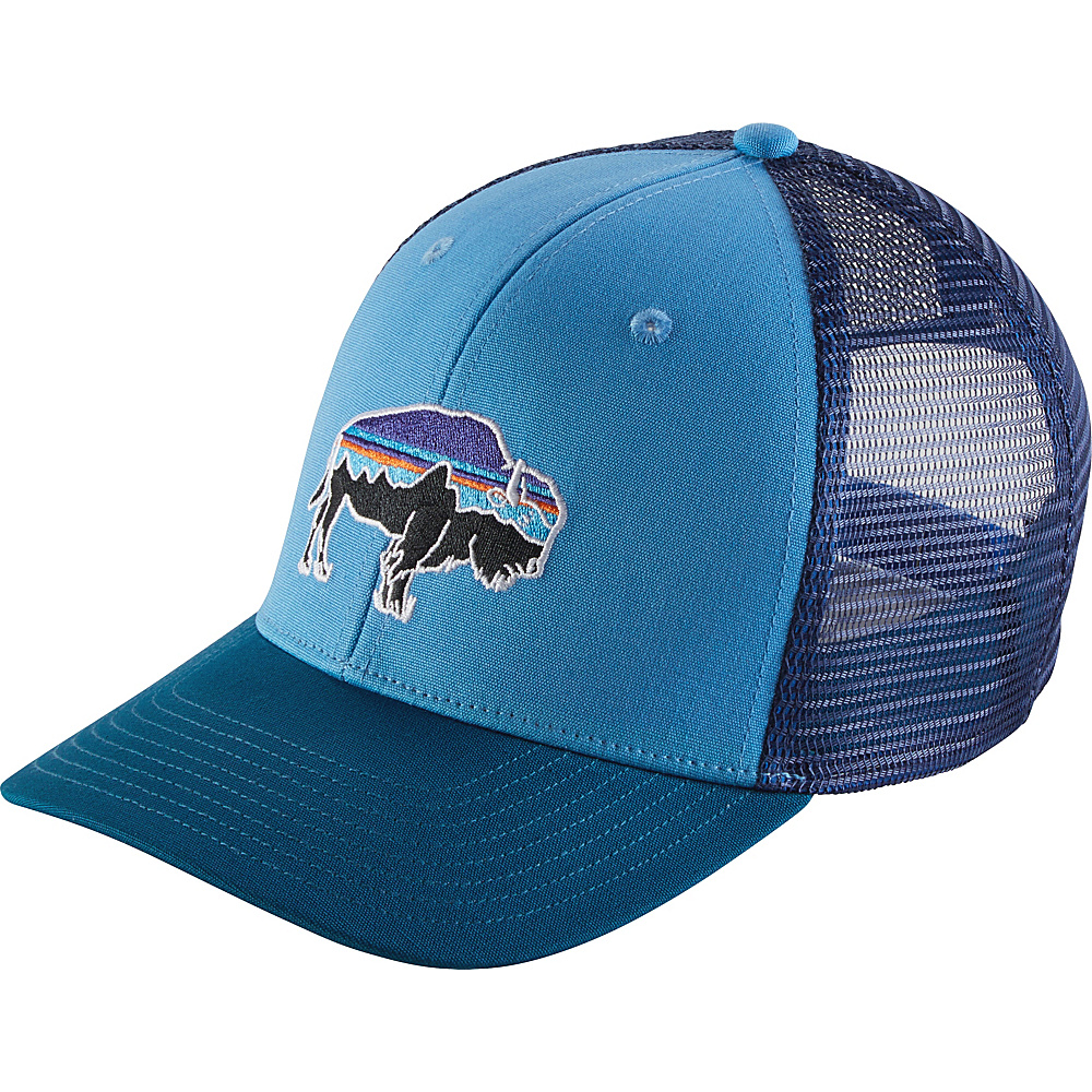 Patagonia Fitz Roy Bison Trucker Hat One Size - Radar Blue - Patagonia Hats/Gloves/Scarves - Fashion Accessories, Hats/Gloves/Scarves