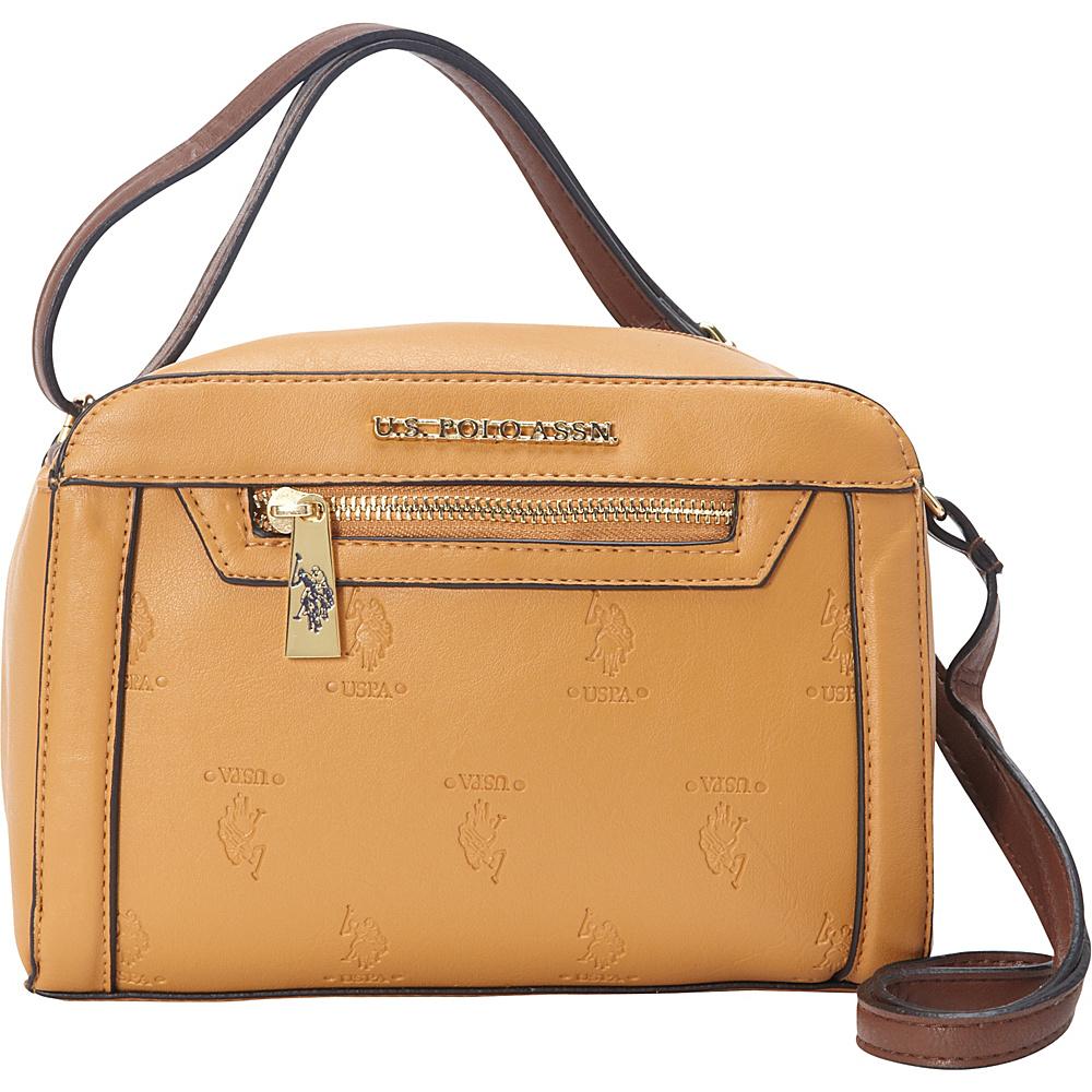 90774c689afd  40.79 More Details · U.S. Polo Association Logo Embossed Logo Crossbody  Camel Brown - U.S. Polo Association Manmade Handbags