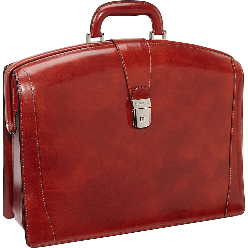 Bosca Old Leather Partners Brief - Cognac - Work Bags & Briefcases, Non-Wheeled Business Cases