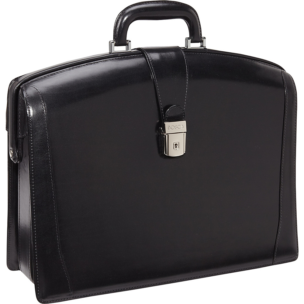 Bosca Old Leather Partners Brief Black - Bosca Non-Wheeled Business Cases - Work Bags & Briefcases, Non-Wheeled Business Cases