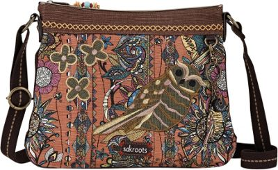 Sakroots Artist Circle Critter Crossbody Terracotta Spirit Desert - Sakroots Fabric Handbags