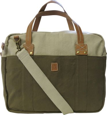 Maker & Co Two Tone Washed Canvas Messenger Bag Tan - Maker & Co Messenger Bags