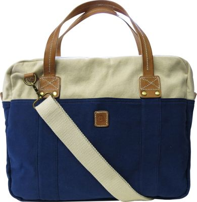 Maker & Co Two Tone Washed Canvas Messenger Bag Navy - Maker & Co Messenger Bags