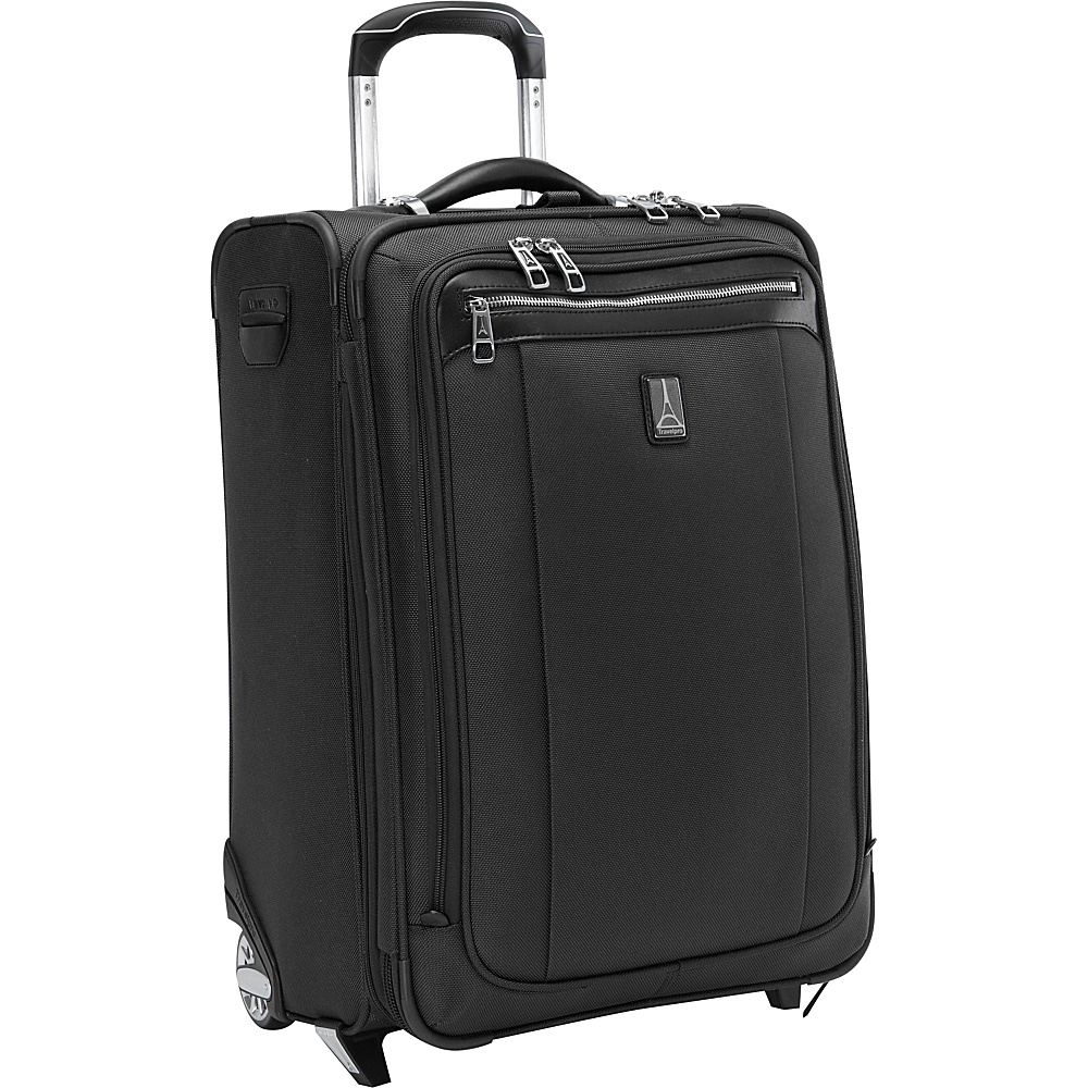 "Travelpro Platinum Magna 2 Expandable Rollaboard Luggage - 22"" Black - Travelpro Softside Carry-On"