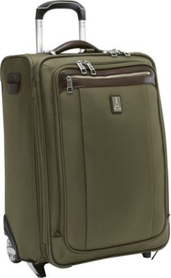 Travelpro Platinum Magna 2 Expandable Rollaboard Luggage - 22 inch Olive - Travelpro Softside Carry-On