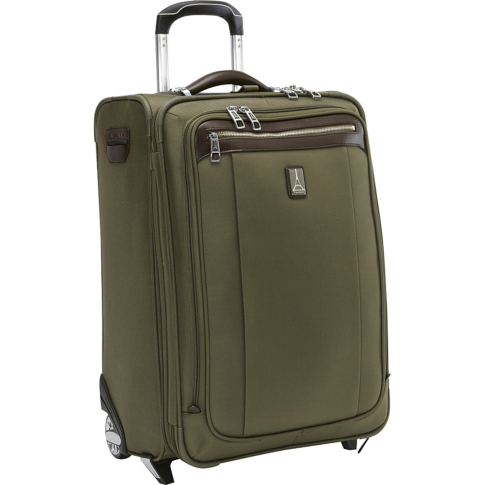 "Travelpro Platinum Magna 2 Expandable Rollaboard Luggage - 22"" Olive - Travelpro Softside Carry-On"