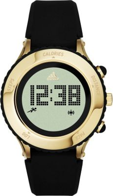 Image of adidas watches Urban Runner Digital Silicone Watch Black with Gold - adidas watches Watches