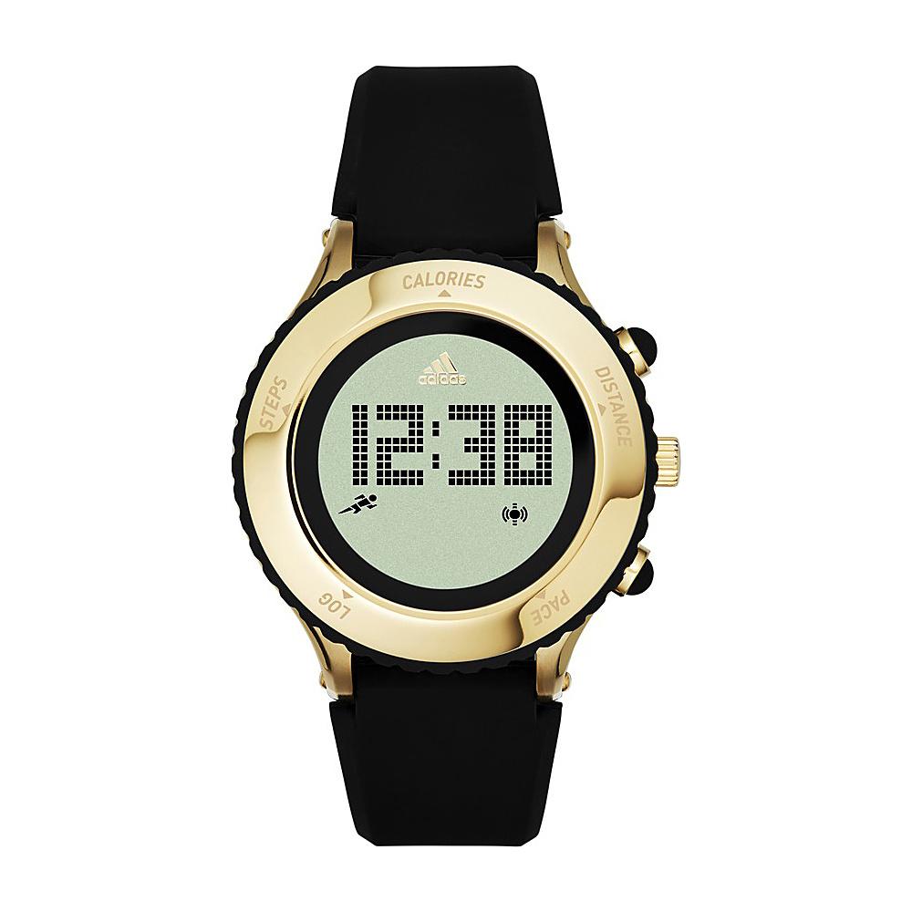 adidas watches Urban Runner Digital Silicone Watch Black with Gold - adidas watches Watches