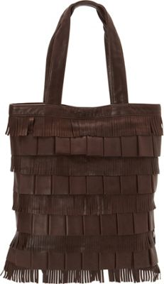 Scully Soft Lamb Fringe Tote Brown - Scully Leather Handbags