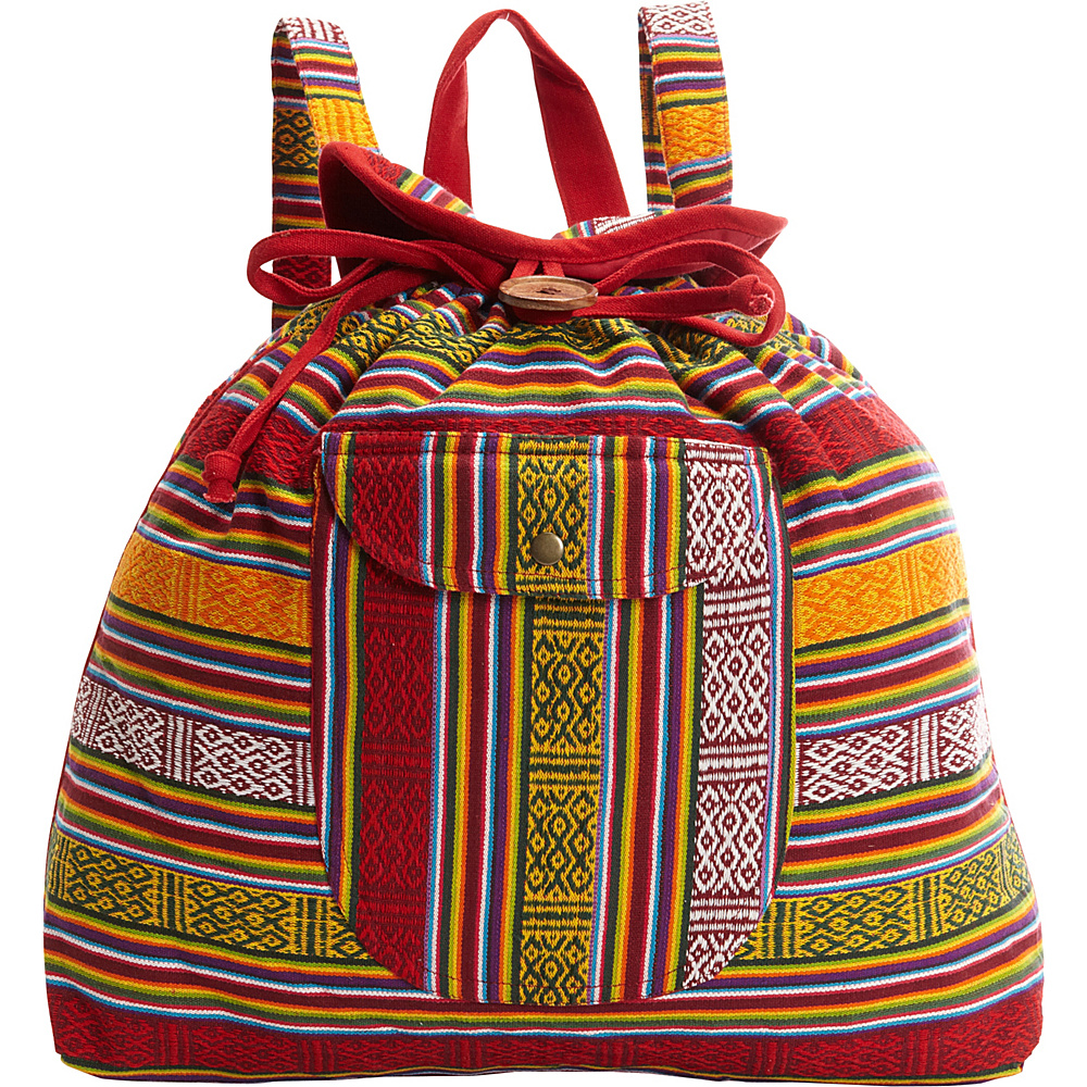Scully Southwest Stripe Backpack Handbag Fiesta Scully Fabric Handbags
