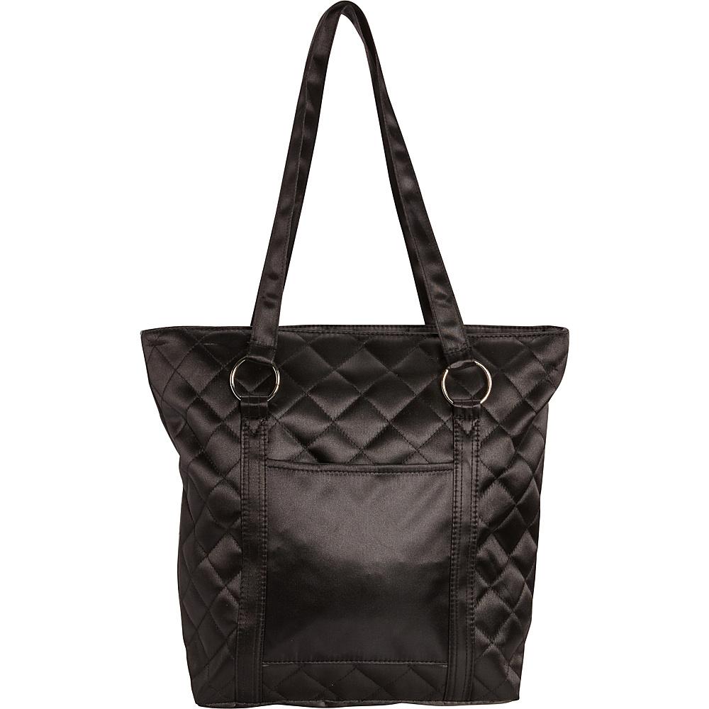 Bellino Quilted Fashion Tote Black - Bellino Fabric Handbags