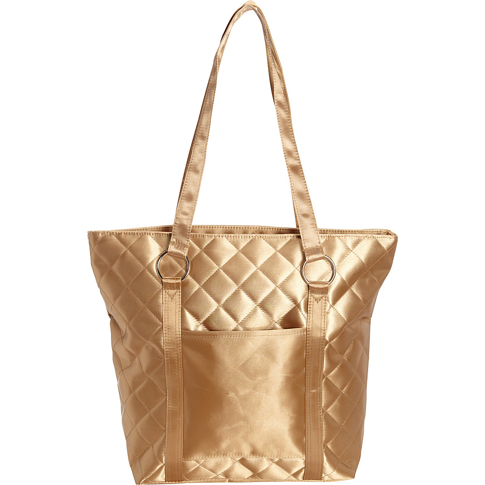 Bellino Quilted Fashion Tote Gold - Bellino Fabric Handbags