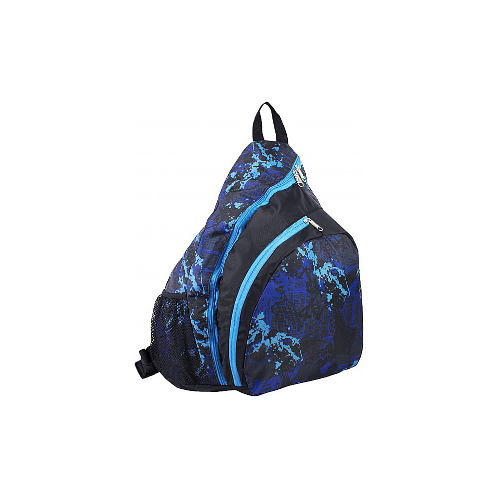 Eastsport Printed Deluxe Sling Bag Blue Design Eastsport Slings