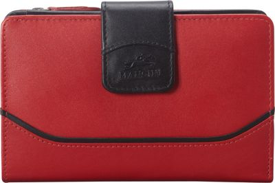 Mancini Leather Goods Mancini Leather Goods RFID Secure Medium Gemma Wallet Red - Mancini Leather Goods Women's Wallets