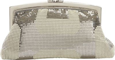 Whiting and Davis Geo Pyramid Framed Clutch Pearl - Whiting and Davis Evening Bags