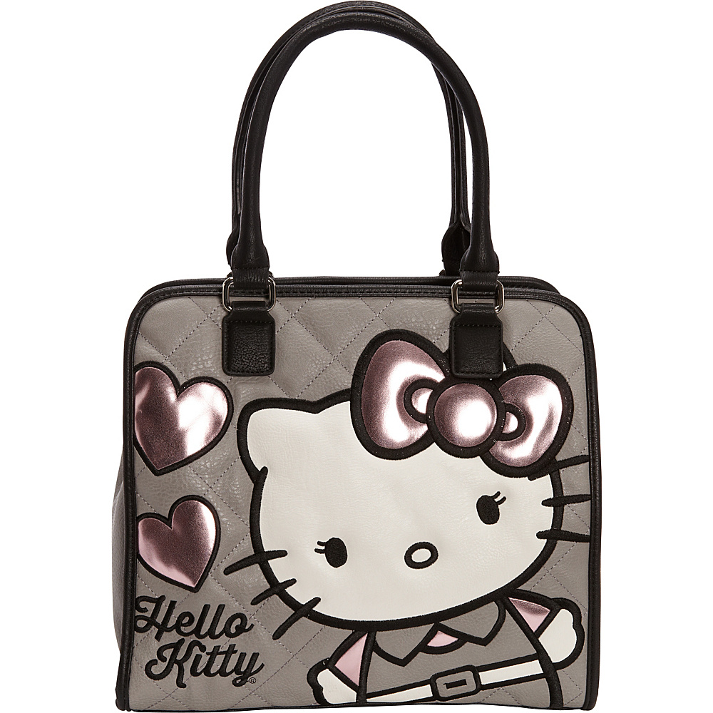 63.74 More Details · Loungefly Hello Kitty Quilted Hearts Tote Gray Pink -  Loungefly Manmade Handbags c83b6c04e0688