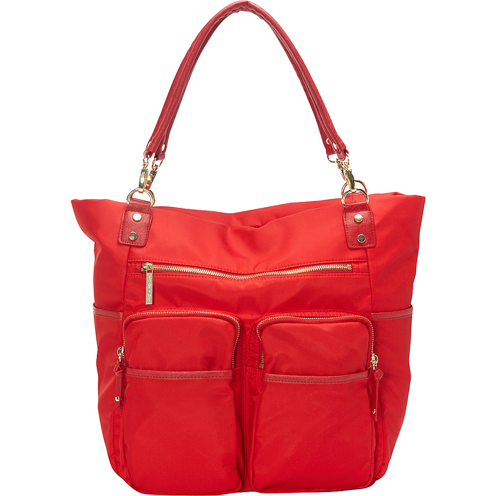 41 64 More Details Olivia Joy Zip Zoom Tote Lipstick Red Fabric Handbags