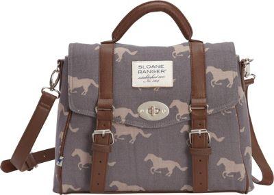 Sloane Ranger Top Handle Satchel Grey Horse - Sloane Ranger Fabric Handbags
