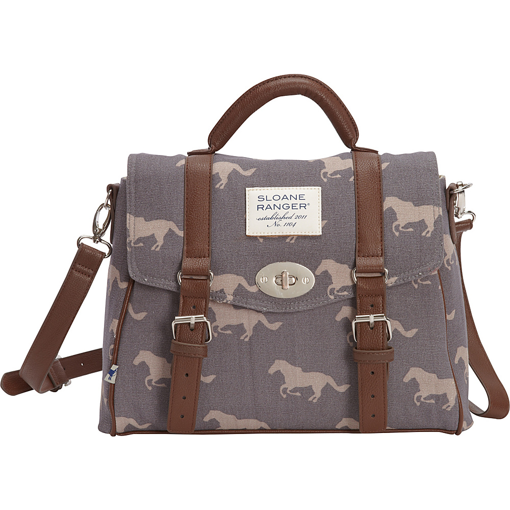 Sloane Ranger Top Handle Satchel Grey Horse Sloane Ranger Fabric Handbags