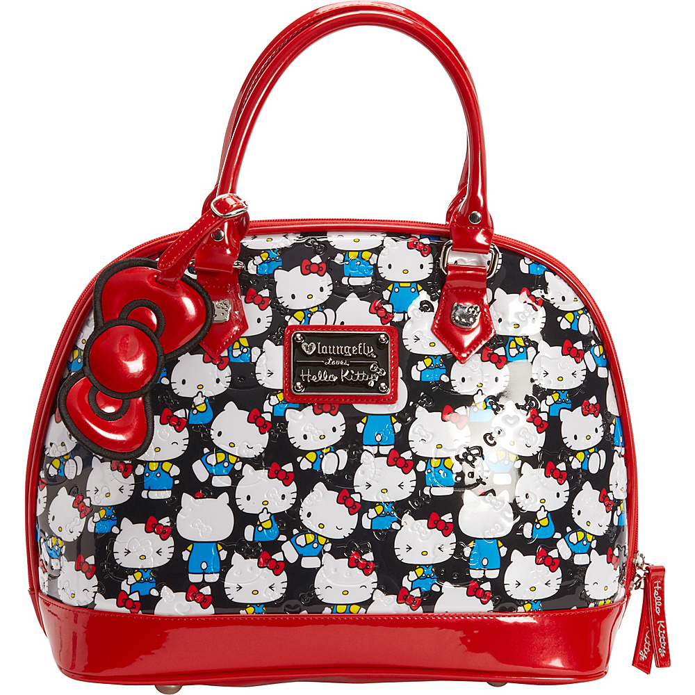 d4e23559e8 Loungefly Hello Kitty Vintage Print Emboss Dome Bag Black Multi - Loungefly  Manmade Handbags