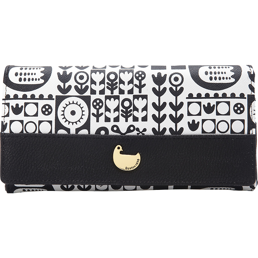 Buxton Nordic Flight Expandable Clutch Black - Buxton Womens Wallets - Women's SLG, Women's Wallets