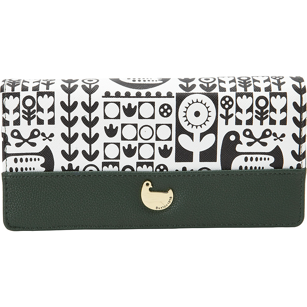 Buxton Nordic Flight Expandable Clutch Pineneedle - Buxton Womens Wallets - Women's SLG, Women's Wallets