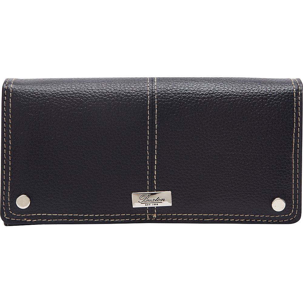 Buxton Westcott L-Zip Expandable Wallet Black - Buxton Womens Wallets - Women's SLG, Women's Wallets