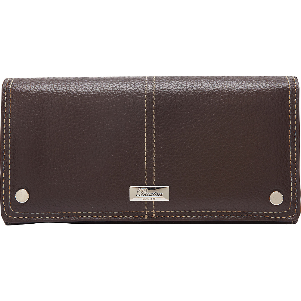 Buxton Westcott L-Zip Expandable Wallet Brown - Buxton Womens Wallets - Women's SLG, Women's Wallets
