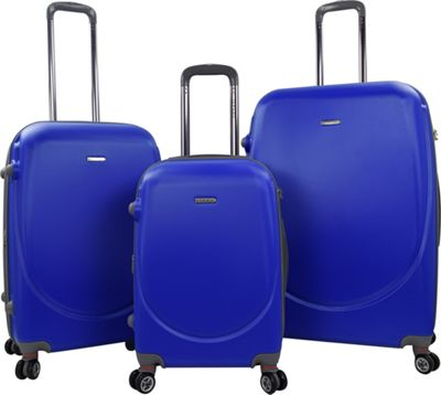 Travelers Club Luggage Barnet 2.0 3PC Round Shell Expandable Double-Spinner Luggage Set Cobalt Blue - Travelers Club Luggage Luggage Sets