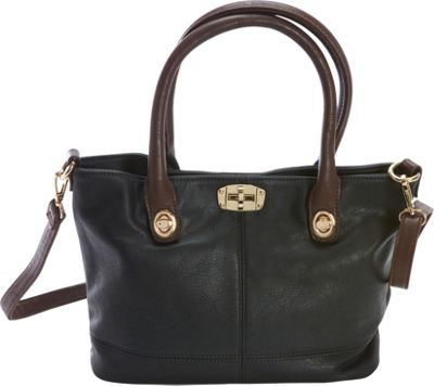 Diophy Convertible Tote Black - Diophy Manmade Handbags