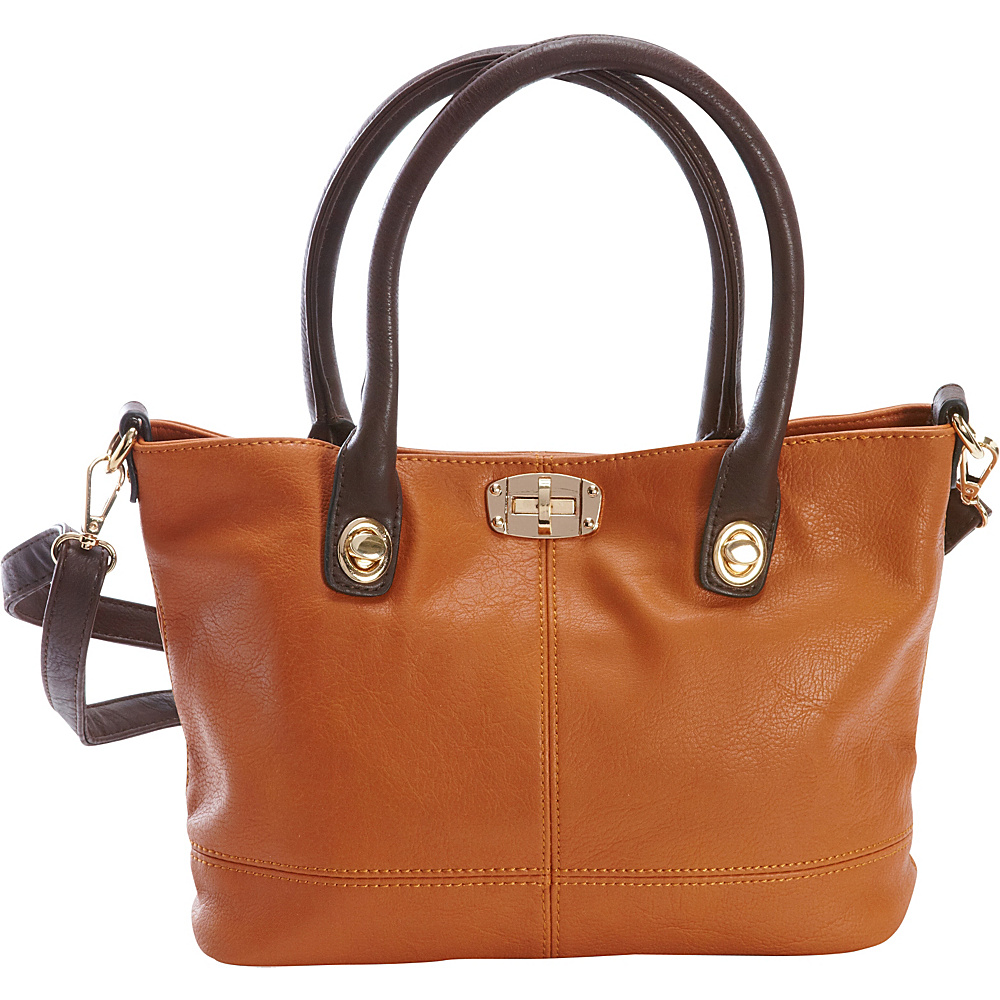 Diophy Convertible Tote Brown Diophy Manmade Handbags