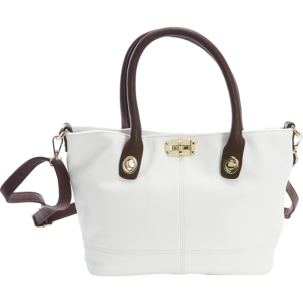 Diophy Convertible Tote White Diophy Manmade Handbags
