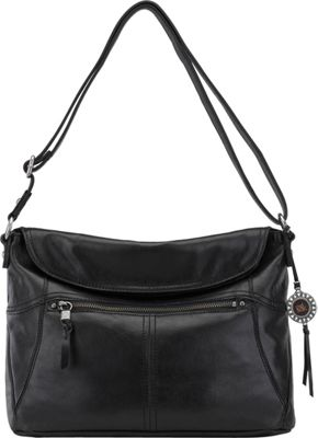 The Sak Esperato Flap Hobo Black - The Sak Leather Handbags